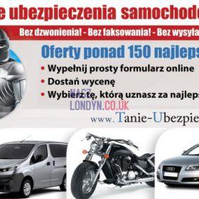 Ubezpieczenia samochodu, Vana, motoru – WPISZ rejestracje, dostań wycenę ONLINE!